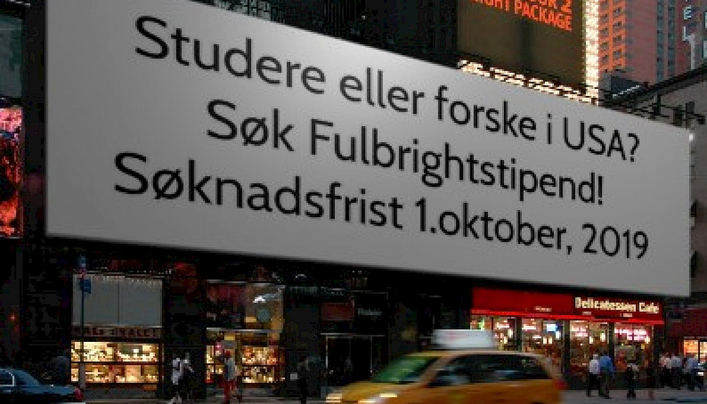 Fulbright grant for Norwegian citizens to the USA 2020-21