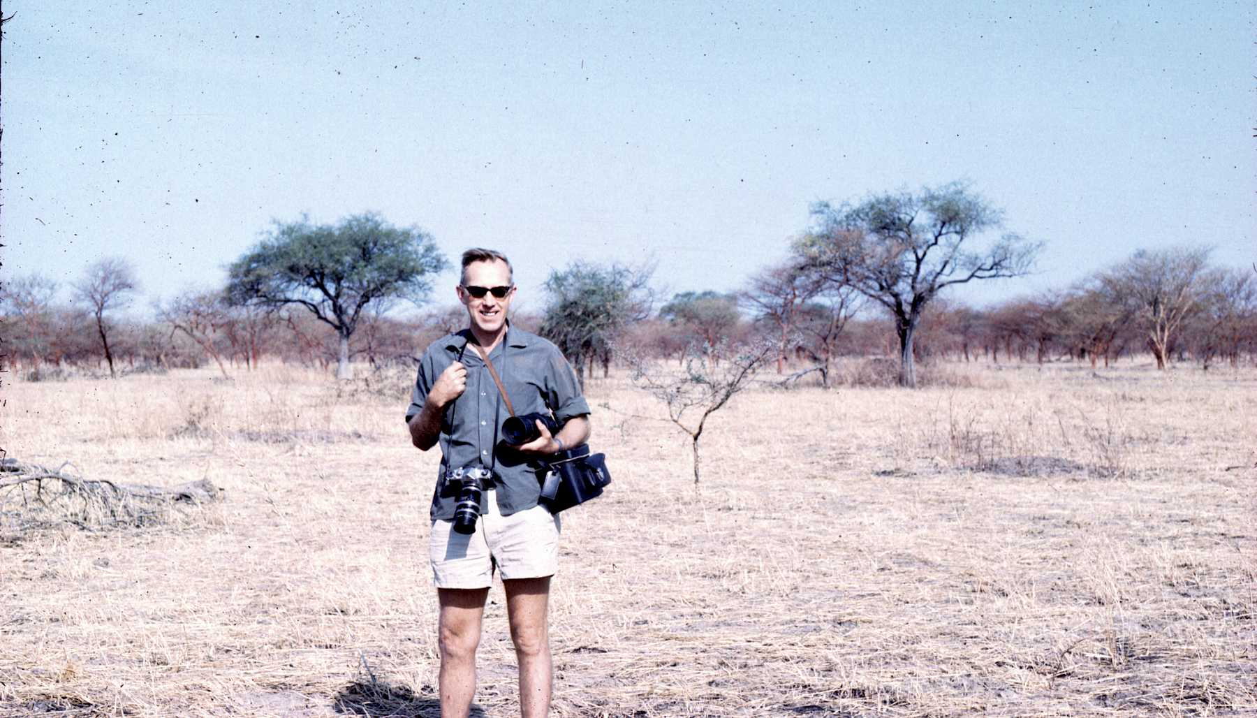 John Fosse in Waza park reserve in North Cameroon.